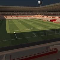 3ds max soccer stadium