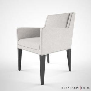 bernhardt design claris chair 3d max