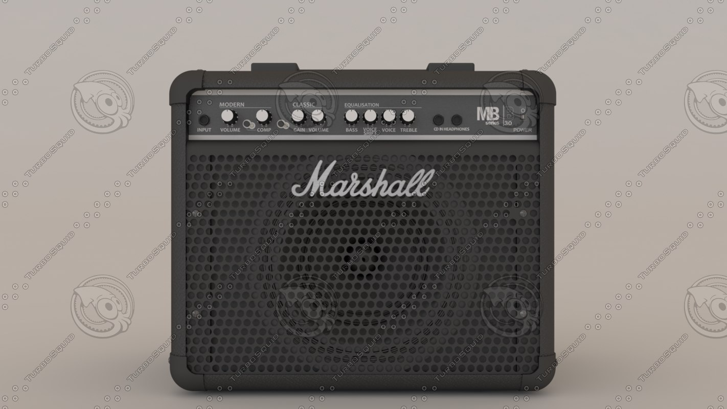 3ds max marshall bass combo