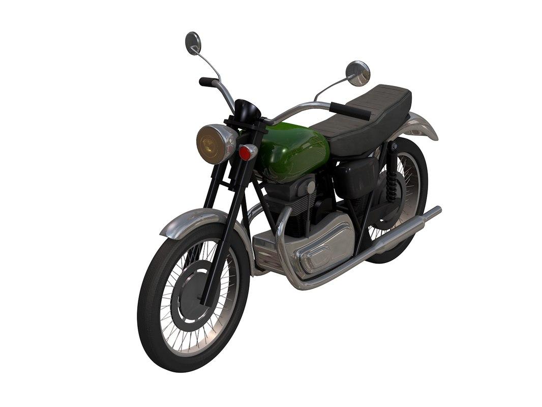 cinema4d kawasaki w650 motorcycle