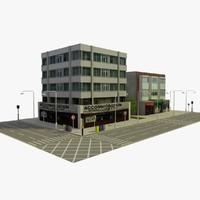 city block 7 street 3d model