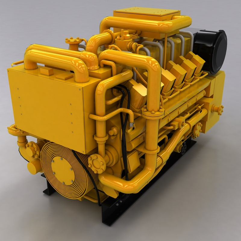 ac generator 3d model