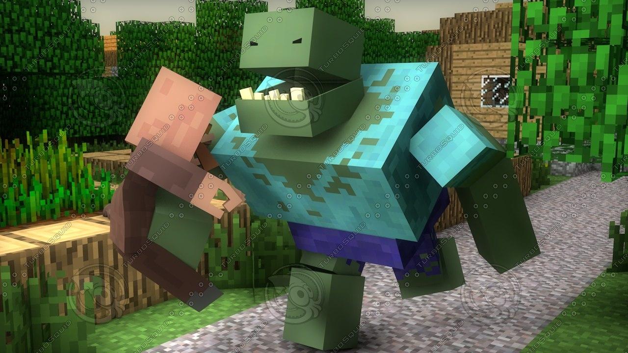 3d zombie mutant model