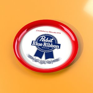 3ds max pabst beer tray