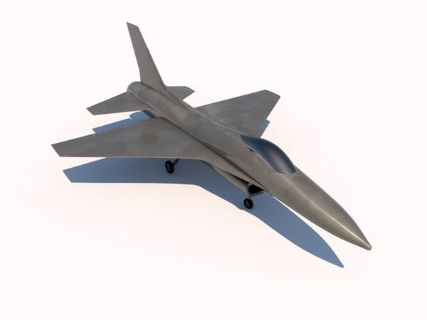 general dynamics f-16 falcon 3d c4d