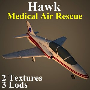 3d british aerospace hawk med model