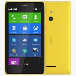 nokia xl yellow 3d 3ds