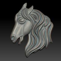 3d horse relief model