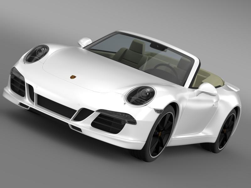 3d model porsche 911 exclusive cabrio