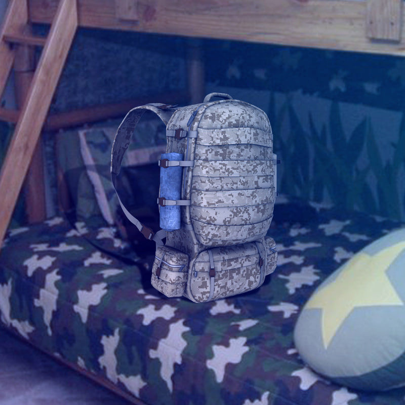 3d reborn soldier backpack