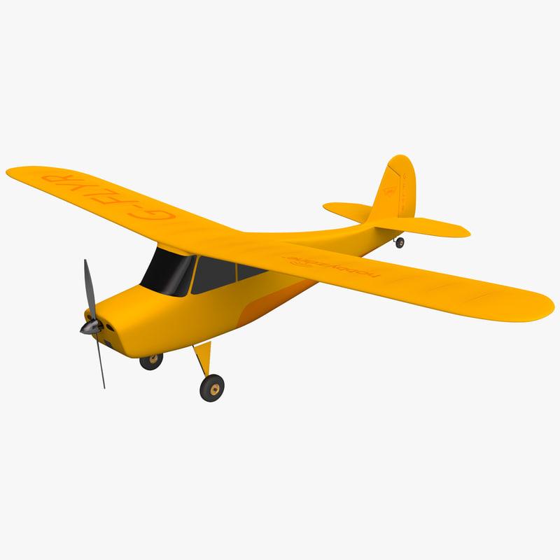 radio control rc airplane 3d model