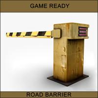 3d rusty street barrier