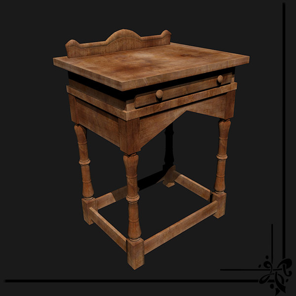 small desk 3d model