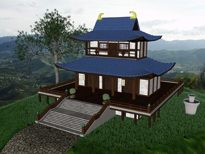 budhism temple 3d model