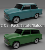 trabant 601 estate 3d obj