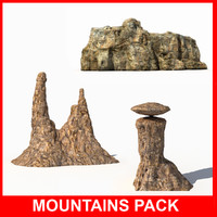 3d mountains model