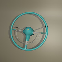 steering wheel belair 3d obj