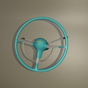 steering wheel belair 3d obj
