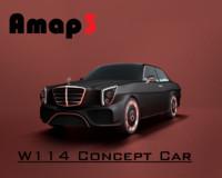 w114 concept car 3d obj