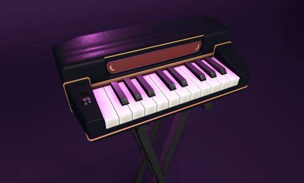 3d mini keyboard model