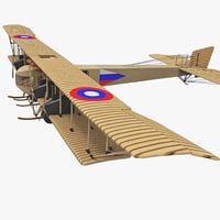 3d model wwi heavy bomber aircraft
