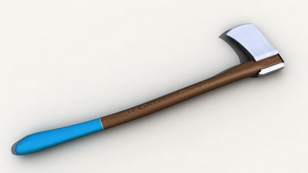 3d model of axe wood