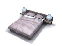 3d bed wood