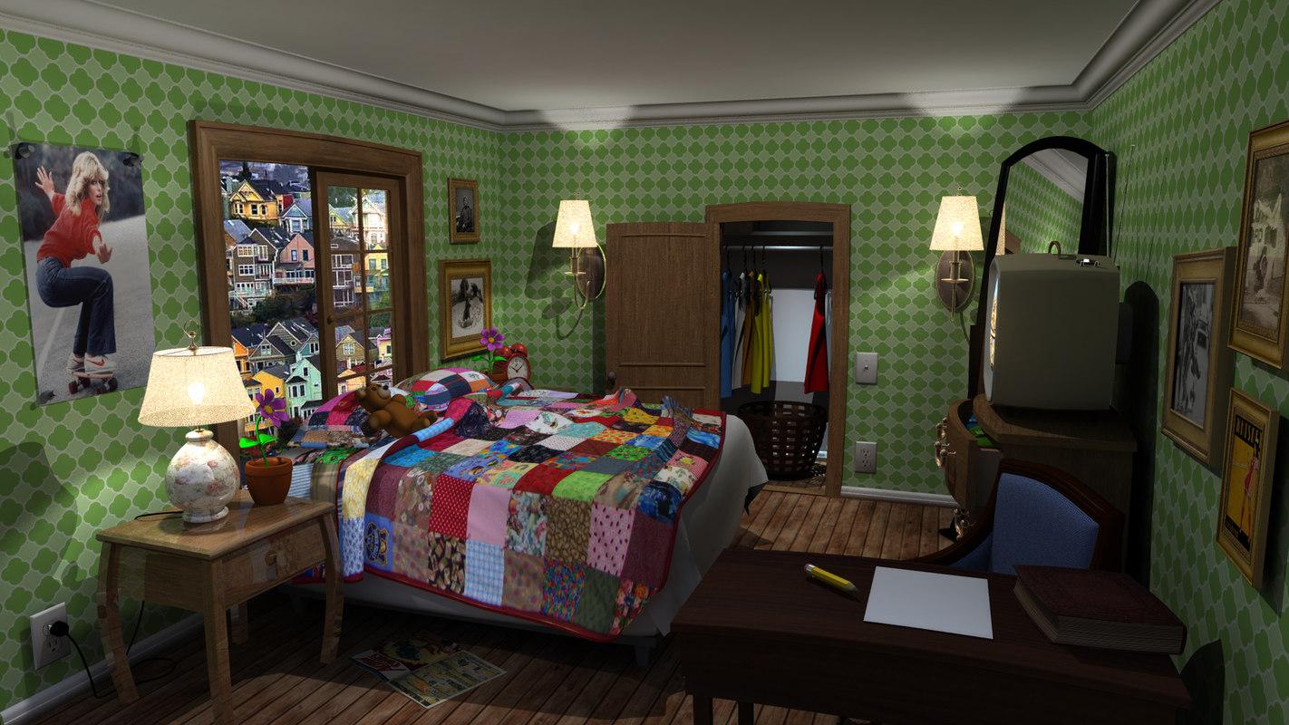 3d stylized interior model