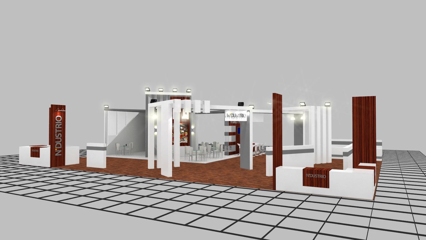 exhibition design 3d dwg