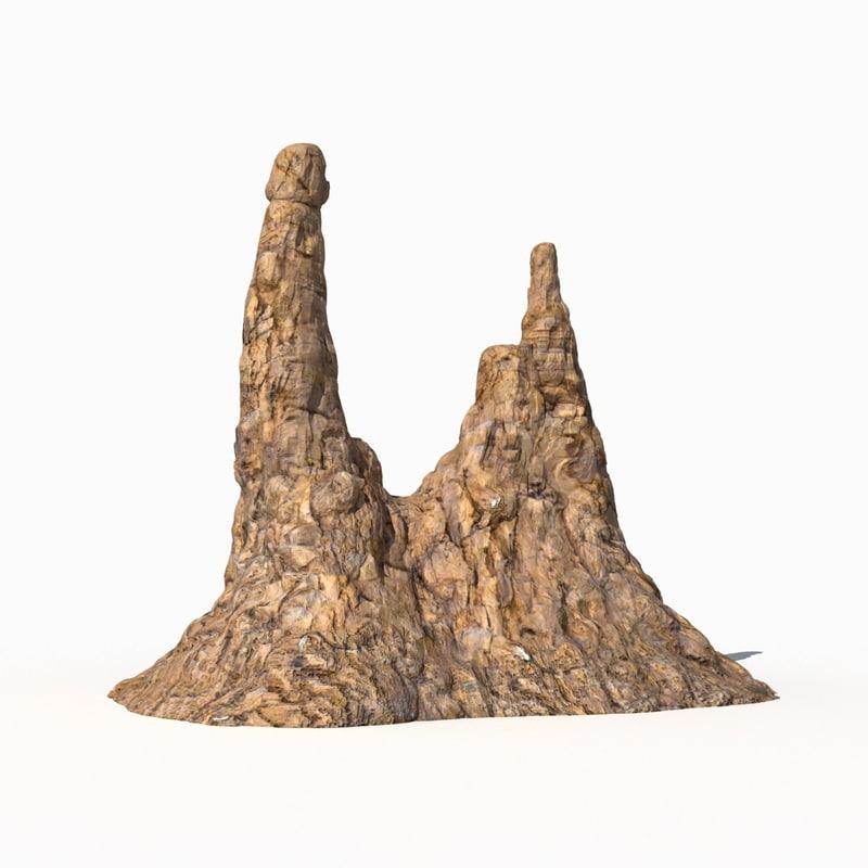 3d model of mountain