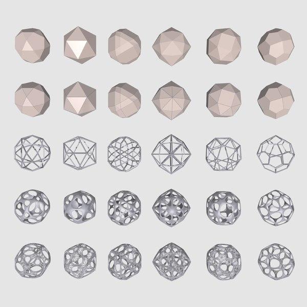geometrical mc-03 shapes 3d model