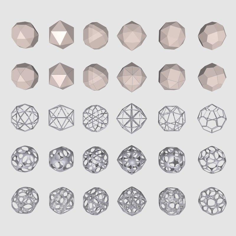 3dsmax geometrical mc-03 shapes