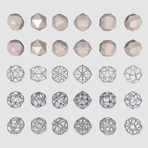 geometrical mc-03 shapes 3d model