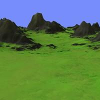 grassy terrain dm-03 3d max