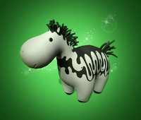 3d cartoon horse