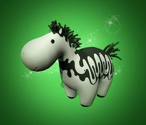 3d cartoon horse