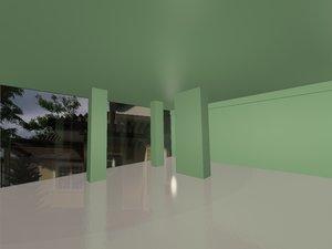 3d hall interior model
