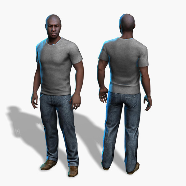 free male character 3d model