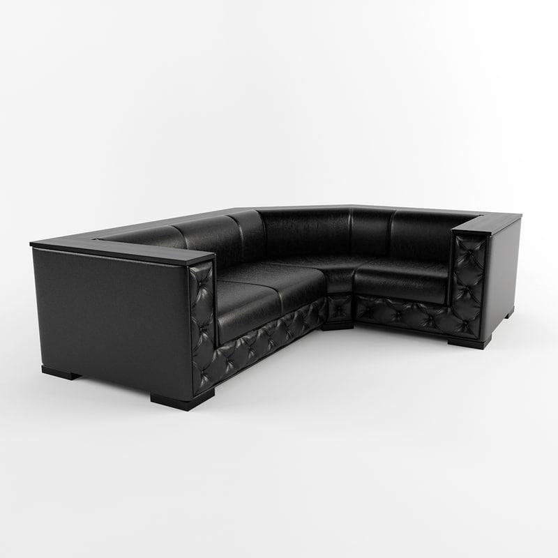 3d model unital monreal sofa
