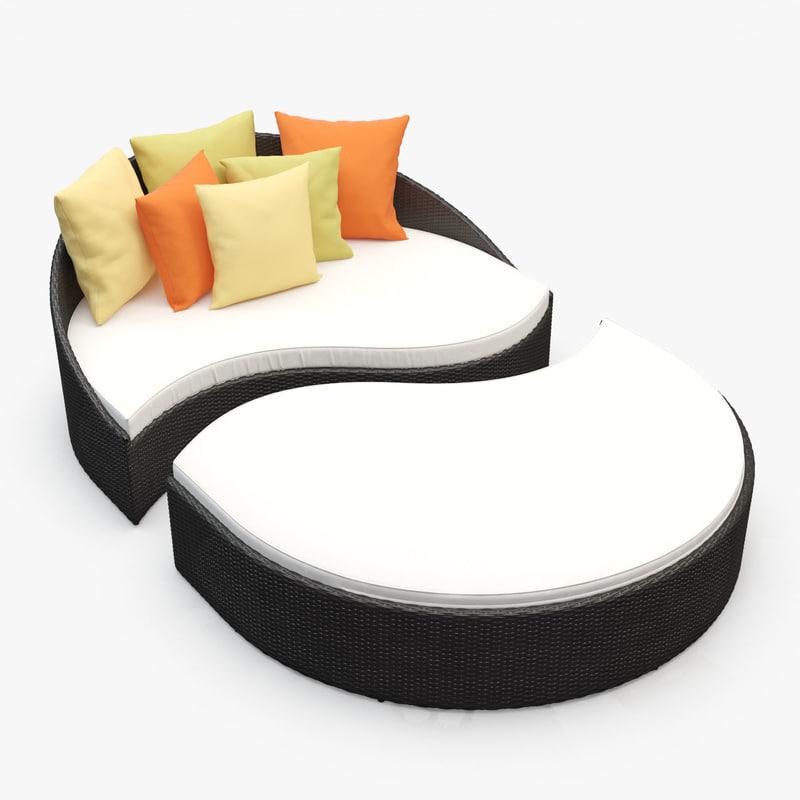 mystique rattan furniture 3d model