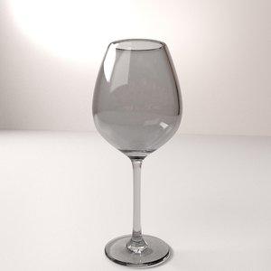 3d wine glass model