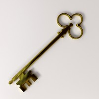 golden key 3d model
