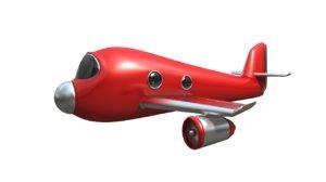 obj funny cartoon plane