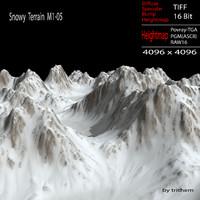3d snowy terrain m1-05 model
