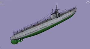 3d model submarine d2