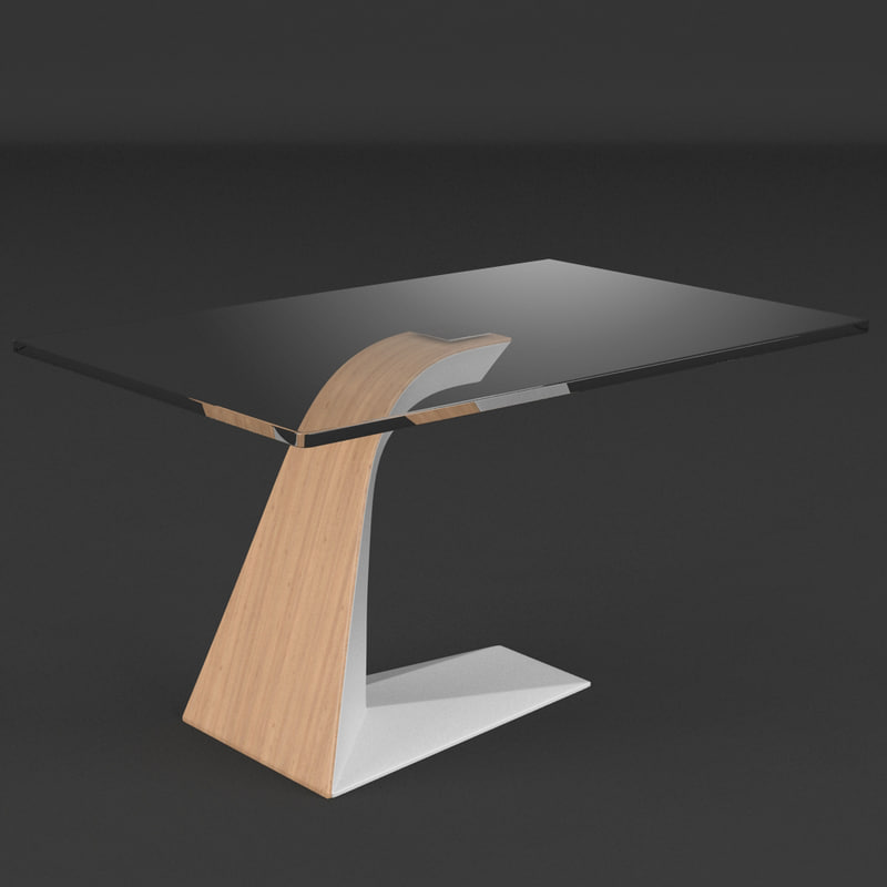 3d model table realistic