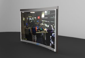 3d max rounded tv
