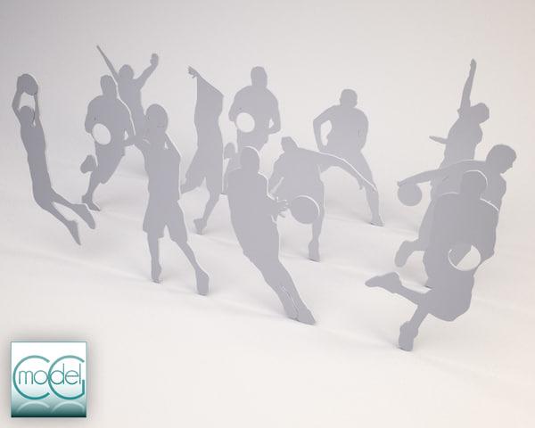 silhouette people c4d