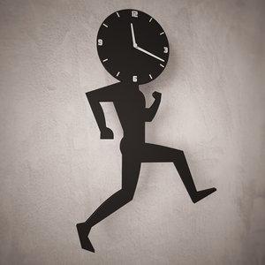 3d analog decorative wall clock
