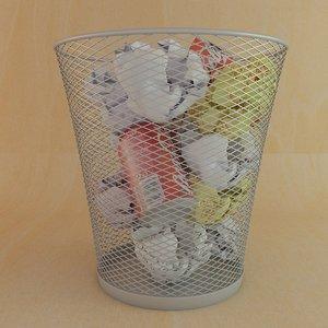 3d model of waste paper basket